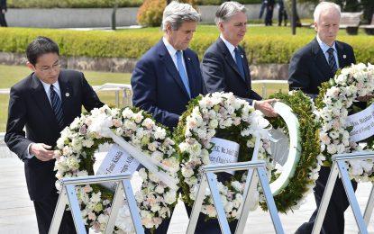 Джон Кери на историческо посещение в Хирошима
