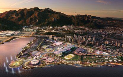 Рио чака олимпийско парти и планини от боклук