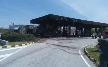 """Изгорялата бензиностанция на """"Тракия"""" е жертва на неразположение"""