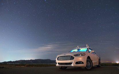 Безпилотната кола на Ford работи в пълен мрак