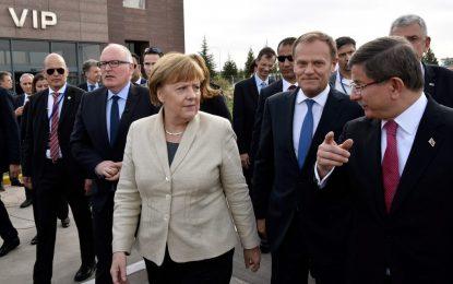 Меркел, Туск и Тимерманс инспектират турско-сирийската граница