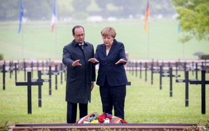 Меркел и Оланд отбелязаха един век от битката при Вердюн