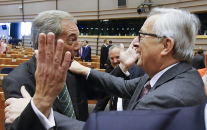 Юнкер към Фараж в Брюксел: Защо си тук?