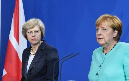 Меркел подкрепи Мей за по-бавен процес на Brexit