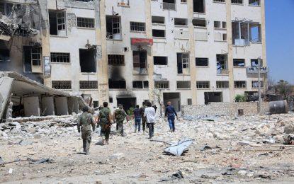 Семейства напускат обсадения Алепо