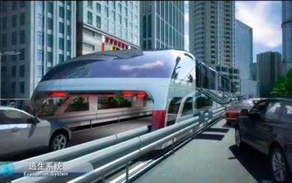"""Китай тества автобуси """"по въздуха"""""""