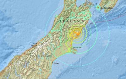 7.4 по Рихтер разтресе Нова Зеландия