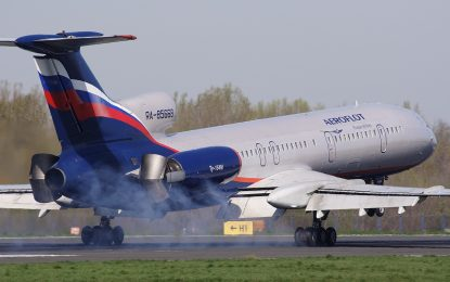 Русия временно спира всички Ту-154