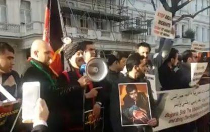 Афганци на протест пред посолството ни в Лондон заради Харманли